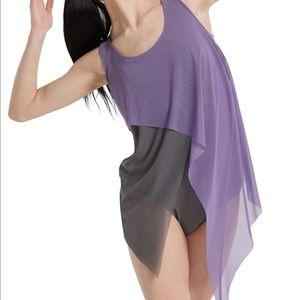 Balera Asymmetrical Mesh Dress